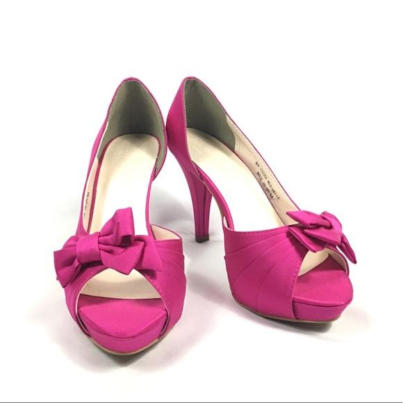 38518b26a94b David s Bridal Shoes - David s Bridal Maribelle Magenta Bow Peep Toe